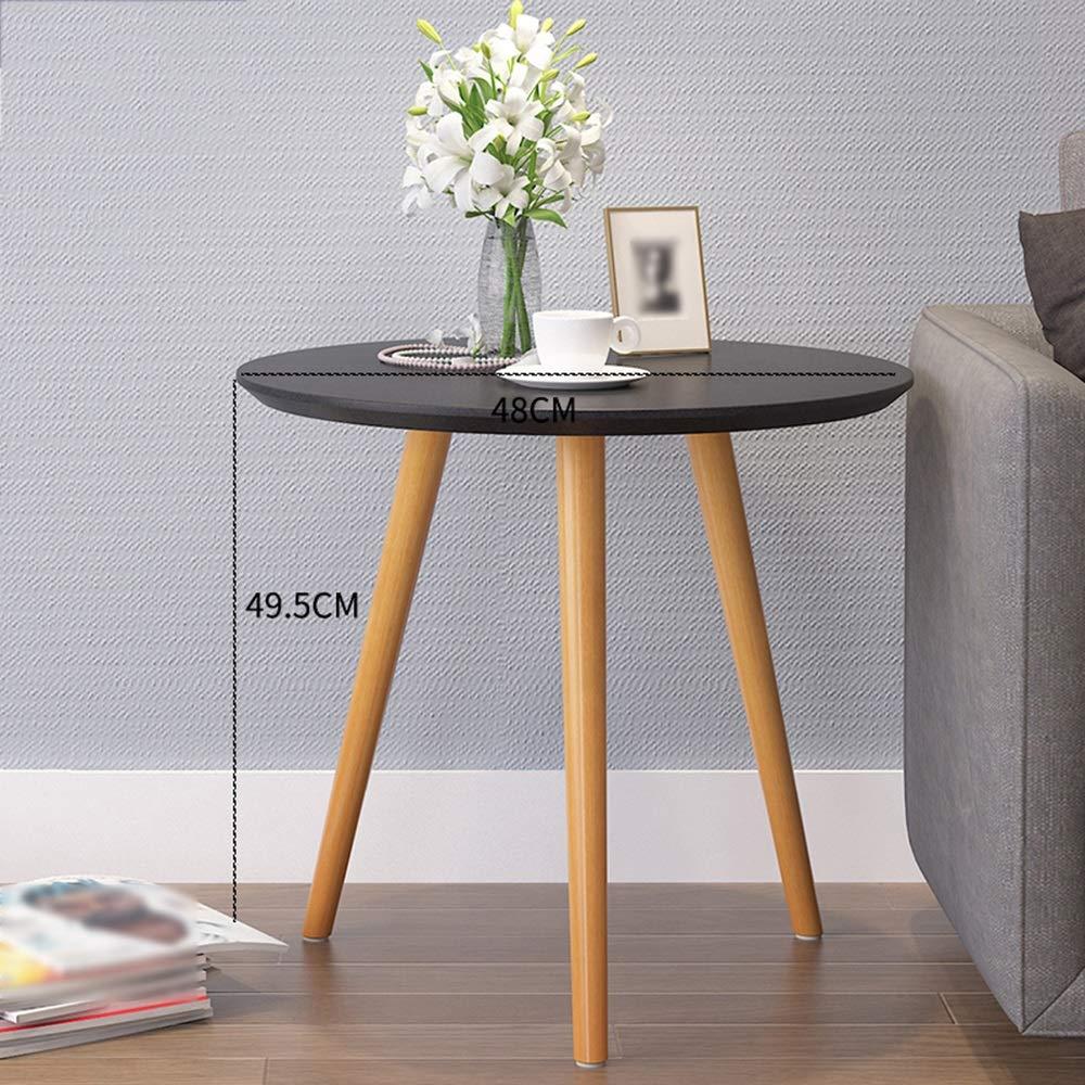 『3年保証』 LJHA zhuozi zhuozi ラウンドの小さなコーヒーテーブル、ベッドサイドテーブル、モダンなミニマリストラップトップテーブル (色、朝食ゲームテーブル、白 (色 48*49.5cm : 1, サイズ さいず : 48*49.5cm) 48*49.5cm 1 B07KS1KT5C, いたの家具:5549de15 --- arianechie.dominiotemporario.com