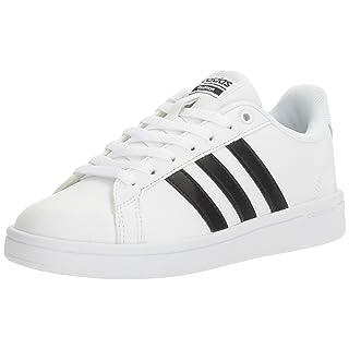 adidas Women's Shoes | Cloudfoam Advantage Cl Sneakers, White/Black/White, (8 M US)