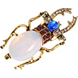 Alilang Antique Gold Tone Egyptian Vintage Pincher Scarab Beetle Bug Brooch Pin