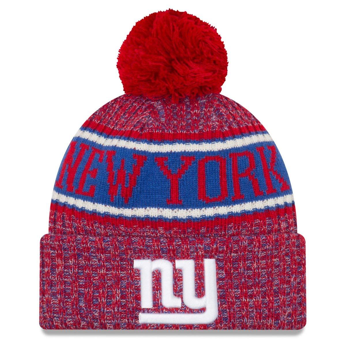 e1622dd31b9e6 Amazon.com  New Era New York Giants Reverse Sport Knit NFL 2018 Beanie
