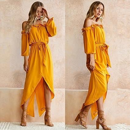 Vestidos de mujer sexy y elegante, VENMO Las mujeres de verano de hombro vestido largo de las señoras fiesta playa vestido casual: Amazon.es: Ropa y ...