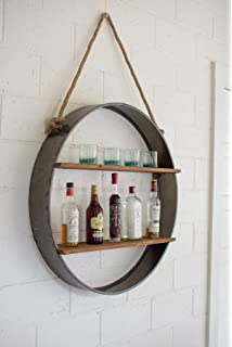 Kalalou CQ7266 Four Bottle Metal Wall Shelf