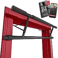 Optrekstang zonder boren - Deurkozijnen Rekstang + Workoutgids | Professionele Pull-Up Stang Bar met Softgrip…