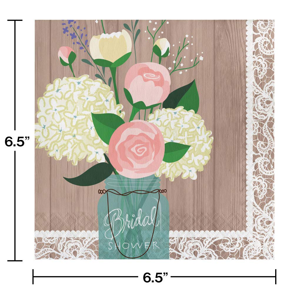 Large Rustic Wedding Bridal Shower Party Supplies Kit, Serves 24 by Creative Converting (Image #5)