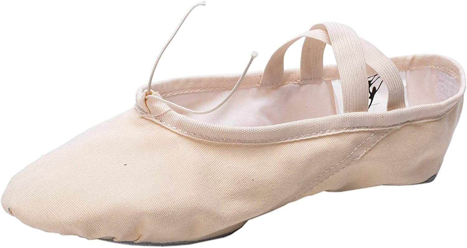 TM Canvas Split Sole Practice Ballet Dancing Shoes Slipper Yoga Shoes for Children and Adults Cpdance