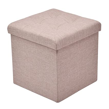 Nice Giantex Folding Storage Cube Ottoman Seat Stool Box Footrest Furniture Home  Decor (Beige)