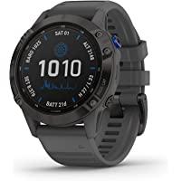 Garmin fēnix 6 Pro Solar, Solar-Powered Multisport GPS Watch, Advanced Training Features and Data, Black with Slate Gray…