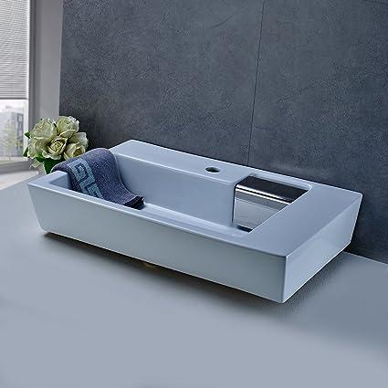 Obeeonr® Lavello Lavabo lavandino bacino bagno in ceramica da ...