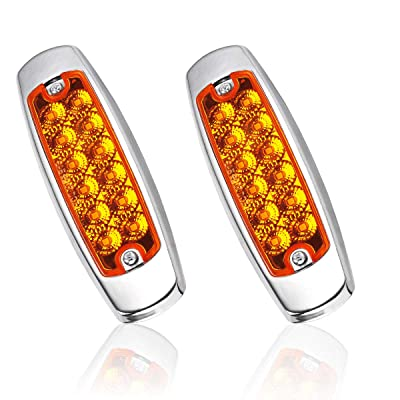 Trailer Marker Lights, YITAMOTOR 2pcs Trailer Front Rear Mount LED Side Marker Lights, Sealed & waterproof Trailer Clearance Lights: Automotive