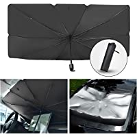 Car Sun Shade for Windshield Foldable Sunshades Umbrella for Car Front Windshield, Easy to Store and Use Protect Vehicle…