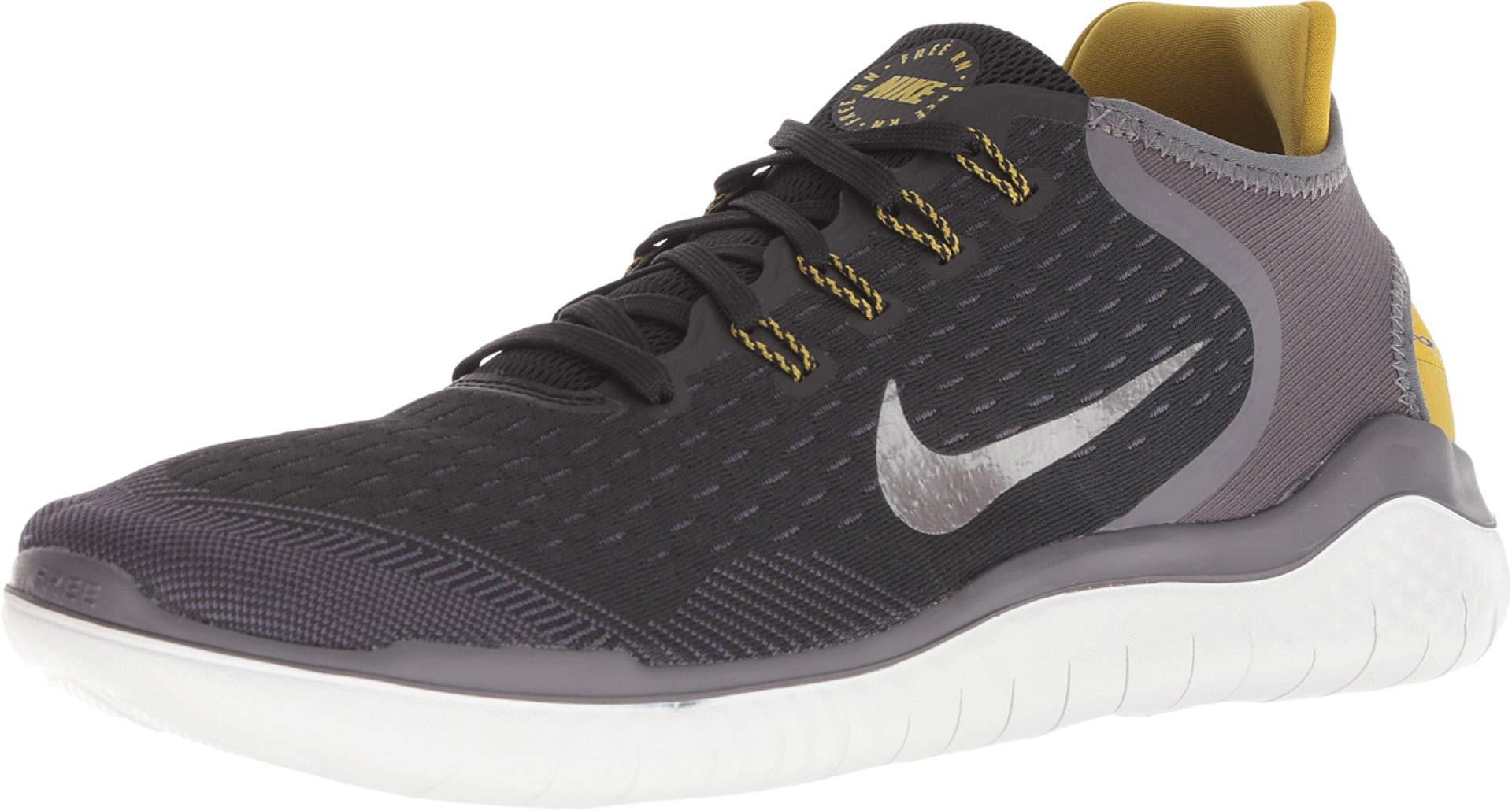 Nike Free RN 2018 Men's Running Shoe Black/MTLC Pewter-PEAT Moss-Thunder Grey 7.5