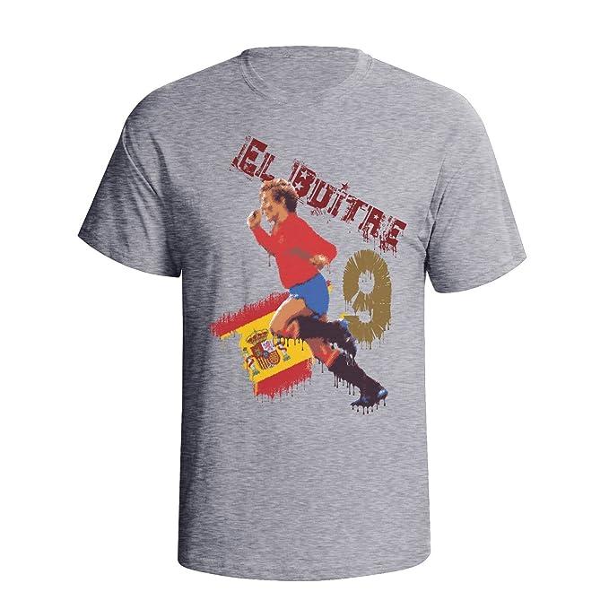 Tee Spirit Emilio Butragueno Mens fútbol soccer masculino Legend camiseta gris S