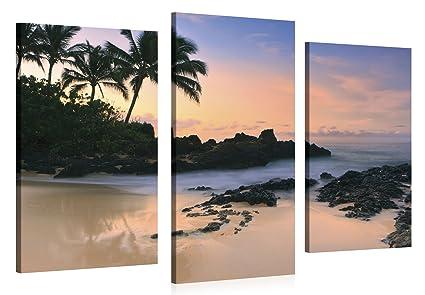 amazon com large canvas print wall art hawaii beach sunset