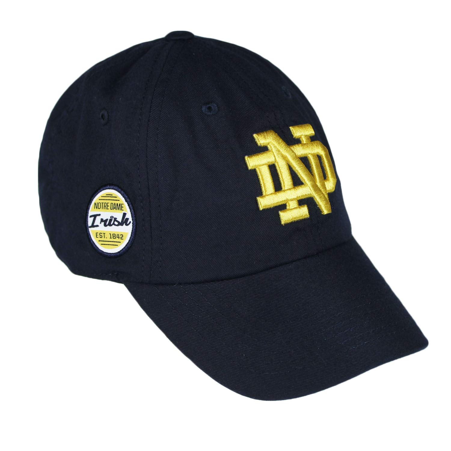 aa88f54b6343 Amazon.com : Top of the World Notre Dame Fighting Irish Official NCAA  Adjustable Blue EST. 1842 Staple 4 Hat Cap 745541 : Sports & Outdoors