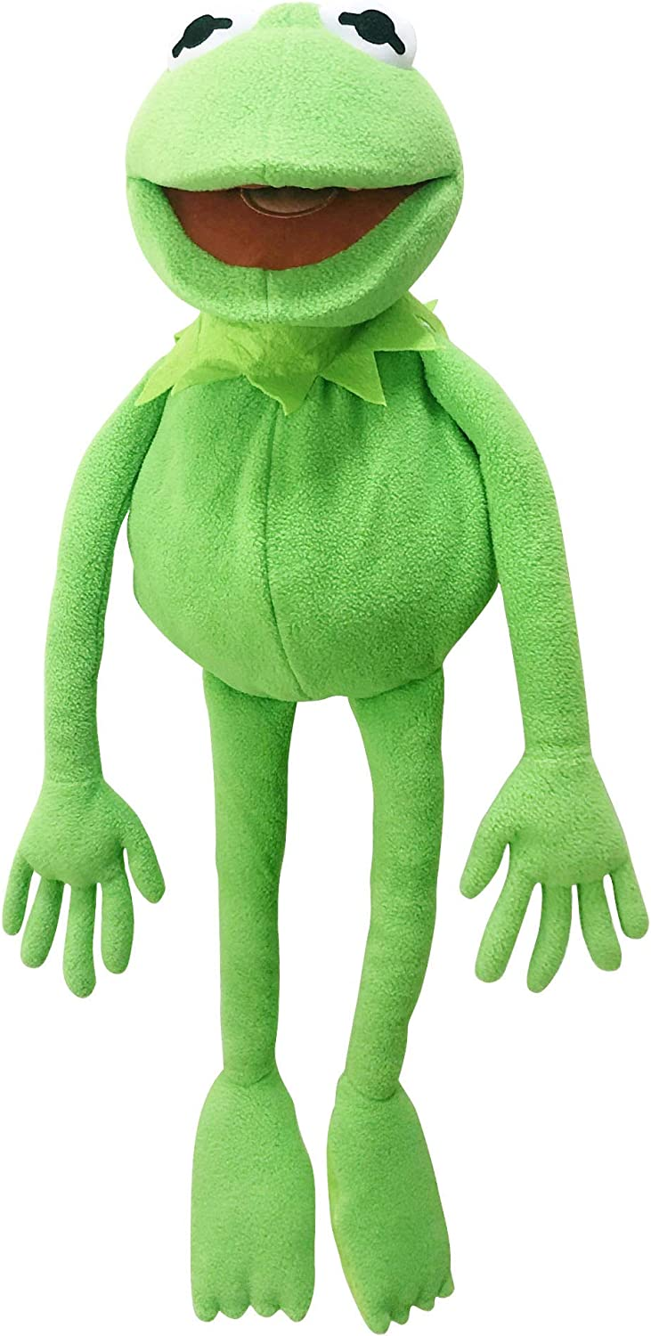 TQWER Kermit Frog Puppet, The Muppets Show, Soft Hand Frog Stuffed Plush Toy, Gift Ideas for Boys and Grils- 27 Inches
