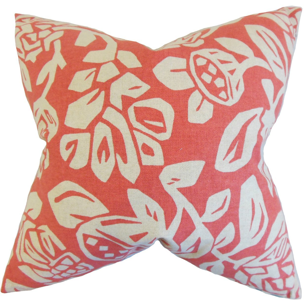 The Pillow Collection Izzy Foral Throw Pillow Cover