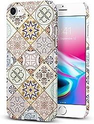 【Spigen】 スマホケース iPhone8 ケース / iPhone7 ケース Qi 充電 レンズ保護 超軽量 シン・フィット デザイン・エディション 054CS22620 (アラベスク)