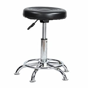 IYB Furniture - Adjustable Stool-Doctor/Kitchen Stool/Office Stool/Chair/Cafeteria Stool/Bar Stool Finish Color -Black (Set of 2 Pcs)