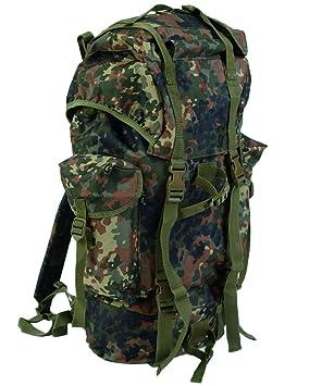 dd37e253e Army Combat Military Travel Rucksack Backpack Surplus Flecktarn Camping  Pack 65L German Import