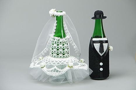 Decoracion para botellas de boda hecha a mano: Amazon.es: Hogar