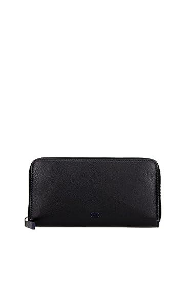 3e1d713562fb3 Brieftaschen Christian Dior Herren Leder Schwarz und Blau 2CNBC011CNT965U  Schwarz 10x19.5 cm