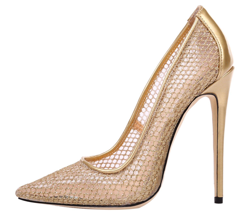 FYM Chaussures Zapatillas de squash y bádminton de Material Sintético para mujer 34 EU|Gold Hollow