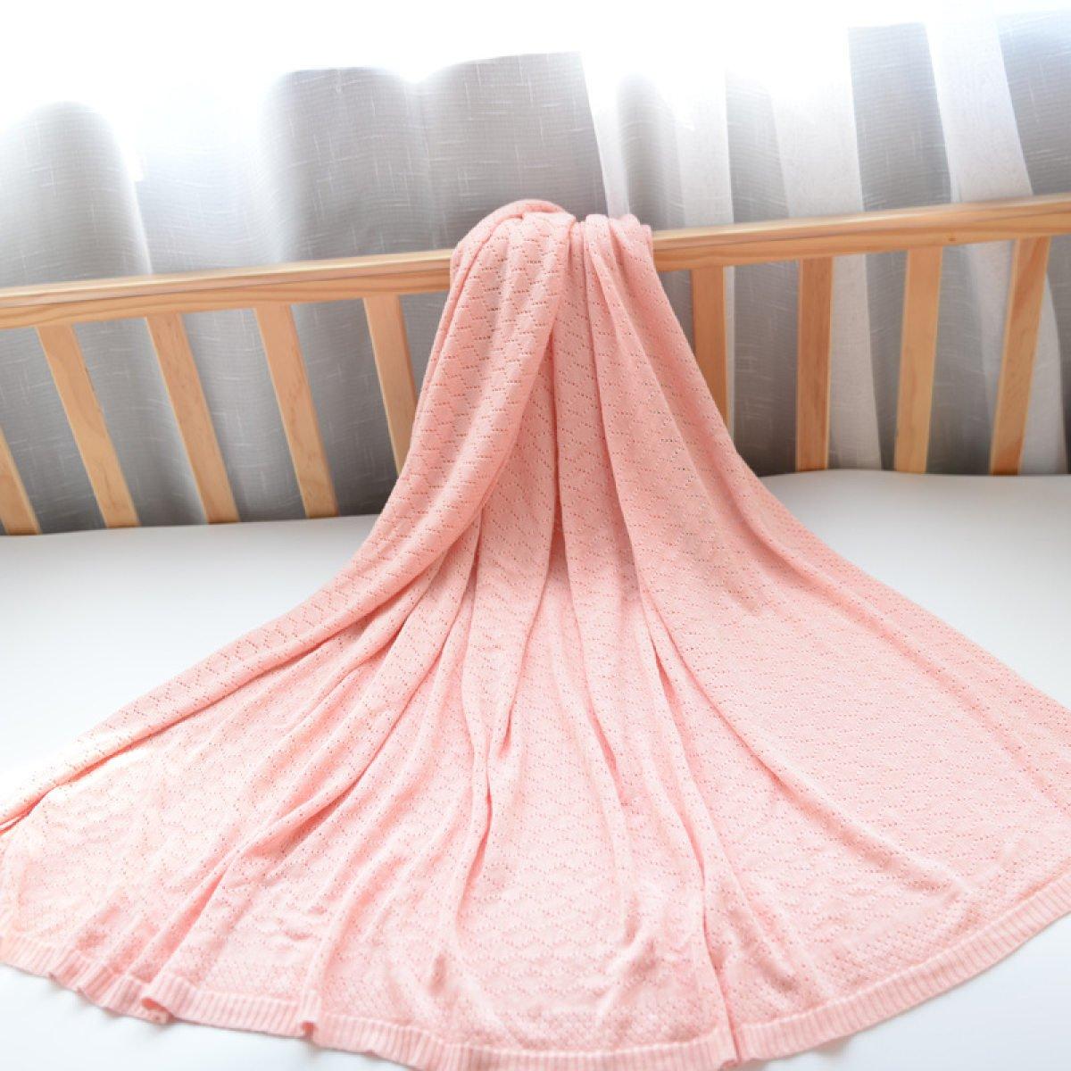 110CM,Blue FTHIYK Knitted Blanket Summer Ice Silk Bamboo Fiber Baby Line Carpet Sofa Blanket Windshield Blanket 125