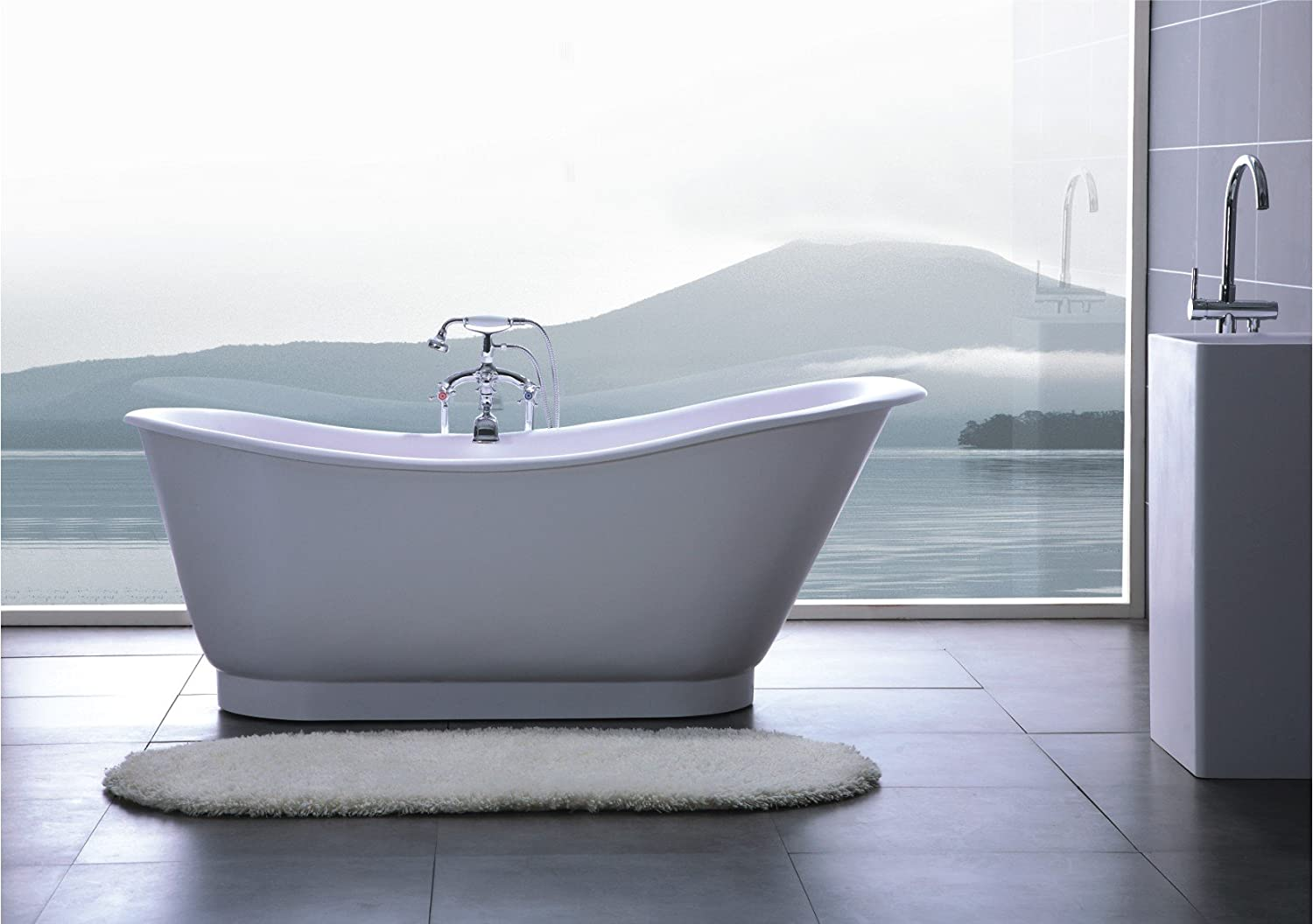 Amazon.com: Modern Bathtub - Soaking Bathtub - Freestanding Bathtub ...