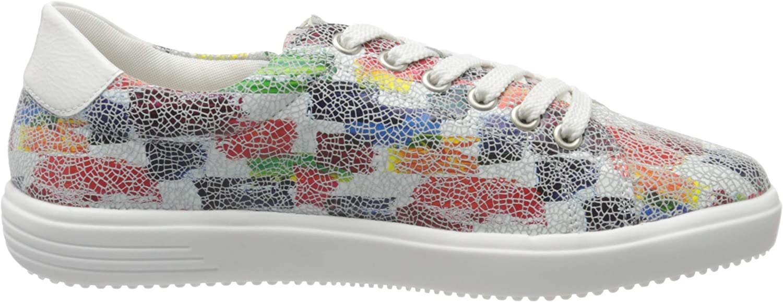 Remonte Dames D1401 Lage Top Sneakers Veelkleurig Weiss Multi Bianco 90