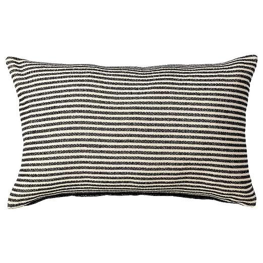 IKEA ASIA SNOFRID - Funda de cojín, Color Negro y Blanco ...