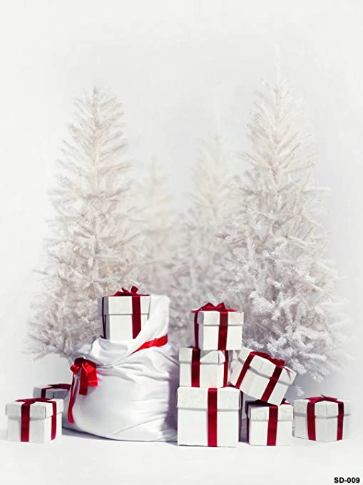 5x7ft white christmas gift photography backgrounds no wrinkle backdrops wdsd009