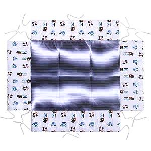 Lulando Garniture pour parc bébé Tour de parc et tapis de protection avec rembourrage latéral (75 x 100 cm ou 100 x 100 cm) - Souple, chaud et moelleux