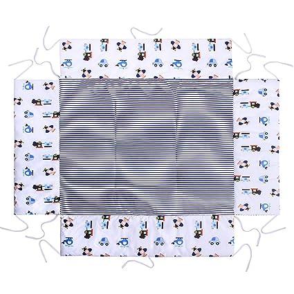 Amilian Laufstalleinlage Laufgittereinlage Schutzeinlage Baumwolle f/ür Laufst/älle Laufstall Spielstall 100 x 100 cm B/är auf der Leiter Ecru
