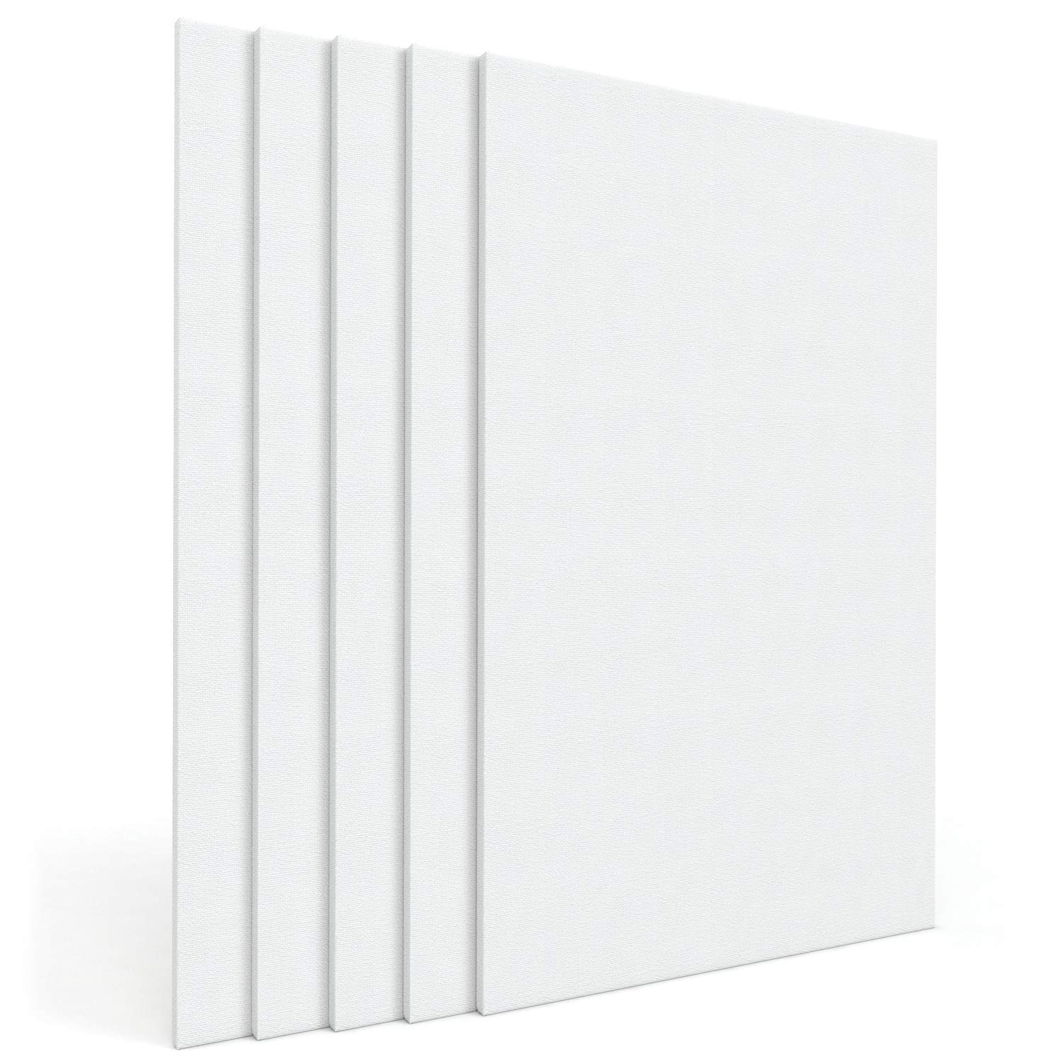 """Arteza 24x36"""" Stretched White Blank Canvas, Bulk Pack of 5, Primed, 100% Cotton for Painting, Acrylic Pouring, Oil Paint & Wet Art Media, Canvases for Professional Artist, Hobby Painters & Beginner by ARTEZA (Image #4)"""
