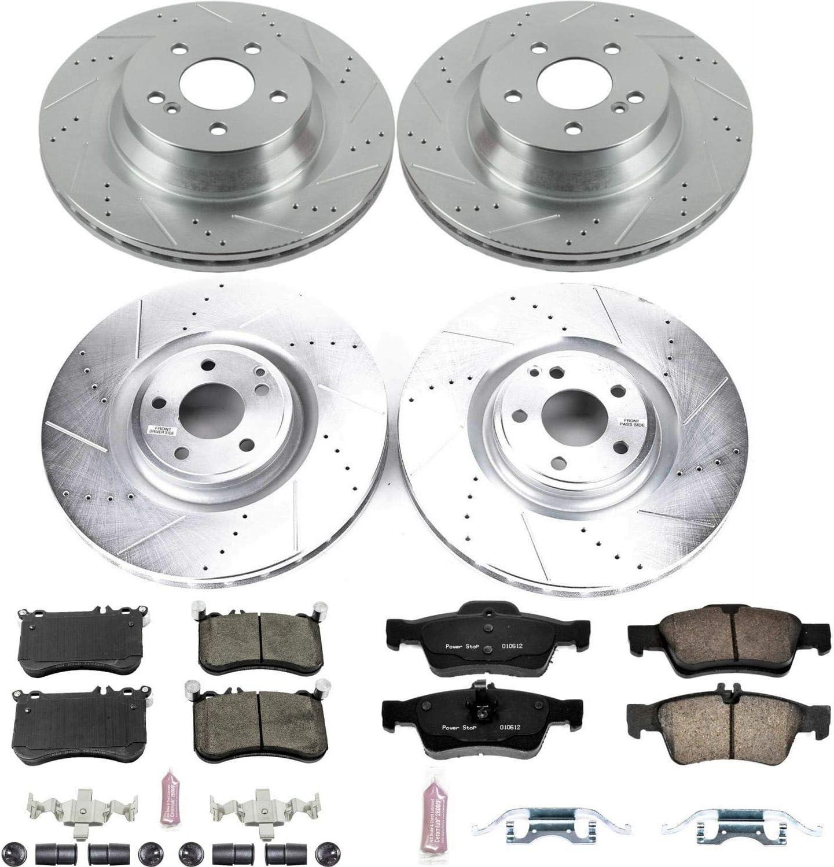 Power Stop K6885 Z23 Evolution Sport Front /& Rear Brake Kit Brake Rotor and Carbon-Fiber Ceramic Brake Pads