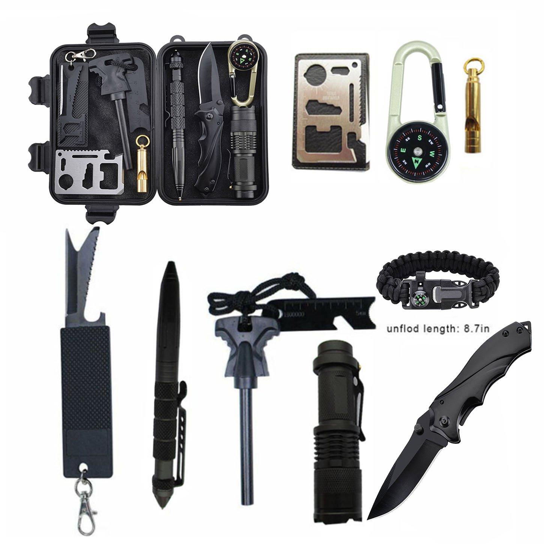 Kit de Supervivencia Profesional, Kit de Artes de Supervivencia al Aire Libre para Viajar Caminar Acampar al Aire