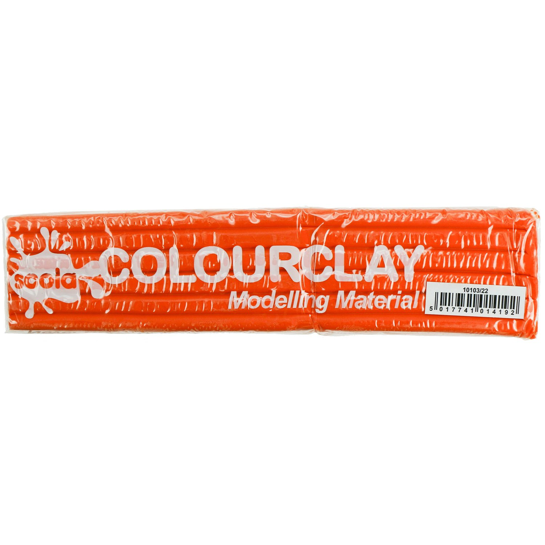 Orange Newplast Plasticine Modelling Clay Non Toxic Moulding Material Animators Choice Non Hardening Bar 1 Block - 500g