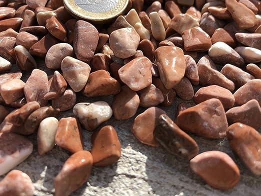 Velestone 50 Sacos 20 kg. Cantos rodados Jardin (6-12, Rojo): Amazon.es: Jardín