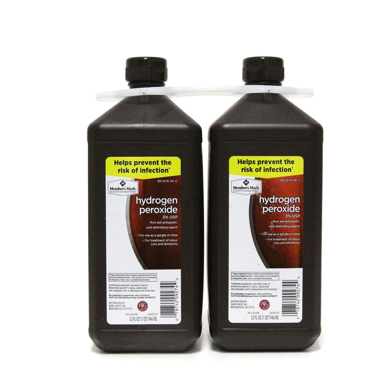 Member's Mark Hydrogen Peroxide (32 fl. oz, 2 pk.) ES