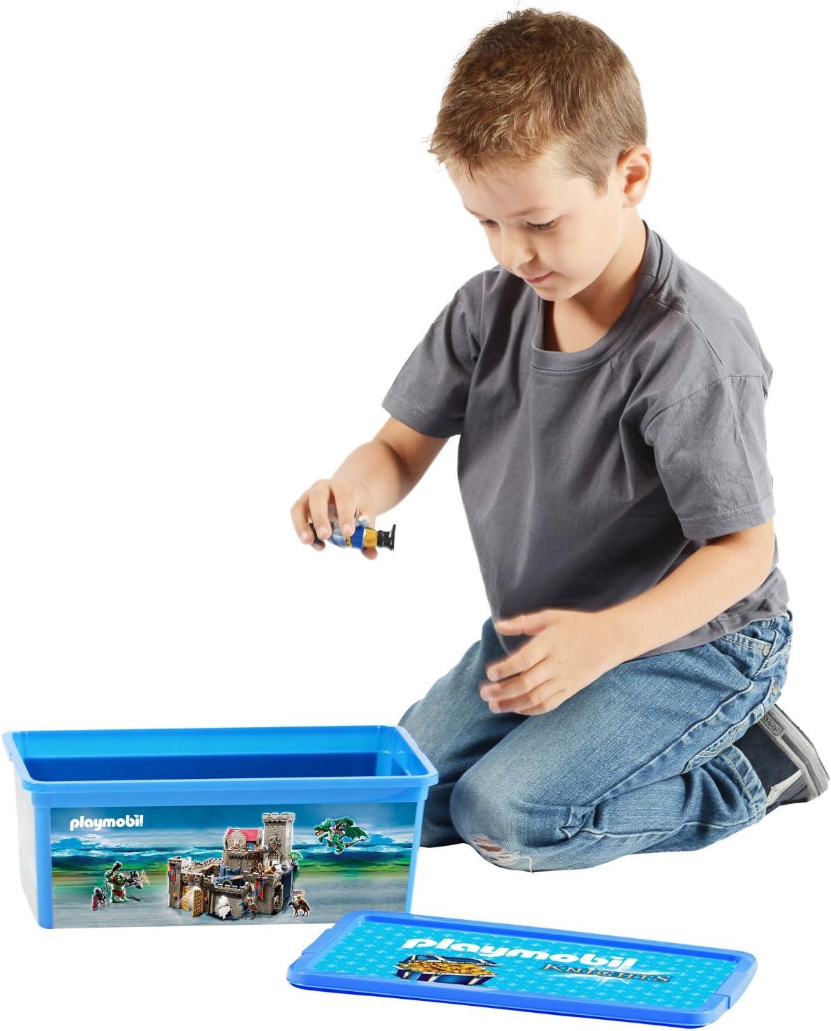 PLAYMOBIL - 064751 - Caja - Los Caballeros - 6 L: Amazon.es: Juguetes y juegos
