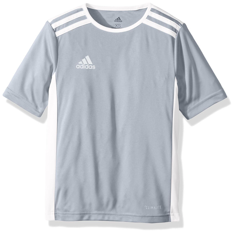 Adidas エントラーダジャージー 男子用 サッカー 18。 B072RCFXFL Small|ライトグレー/ホワイト ライトグレー/ホワイト Small