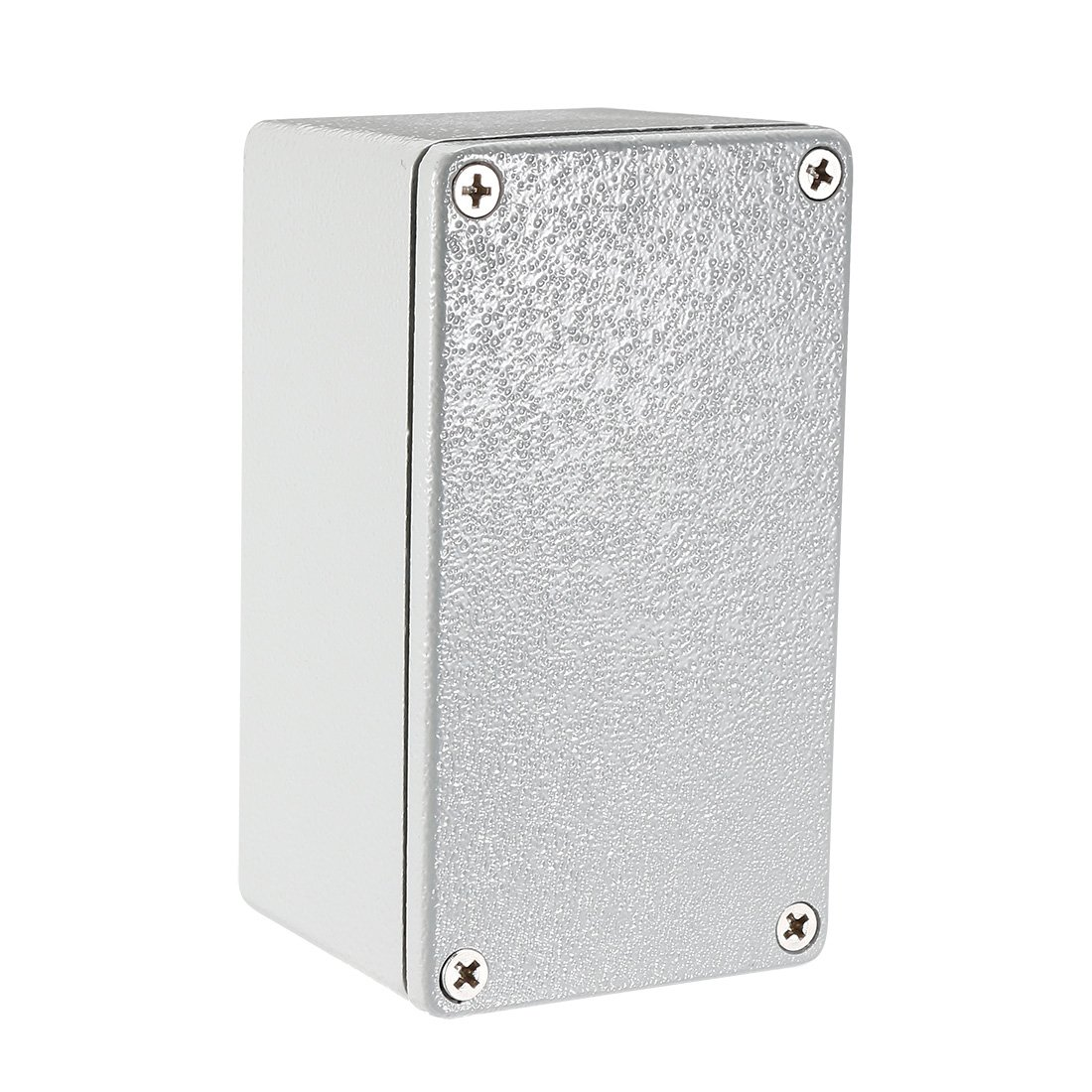 uxcell 4.5''x2.6''x2.2''(115mmx65mmx55mm) Metal Project Enclosure Electrical Aluminum Junction Boxes Waterproof IP65 w Two Horns/Six screws, Abrasion Resistant, Good Heat Dissipation for Outdoor