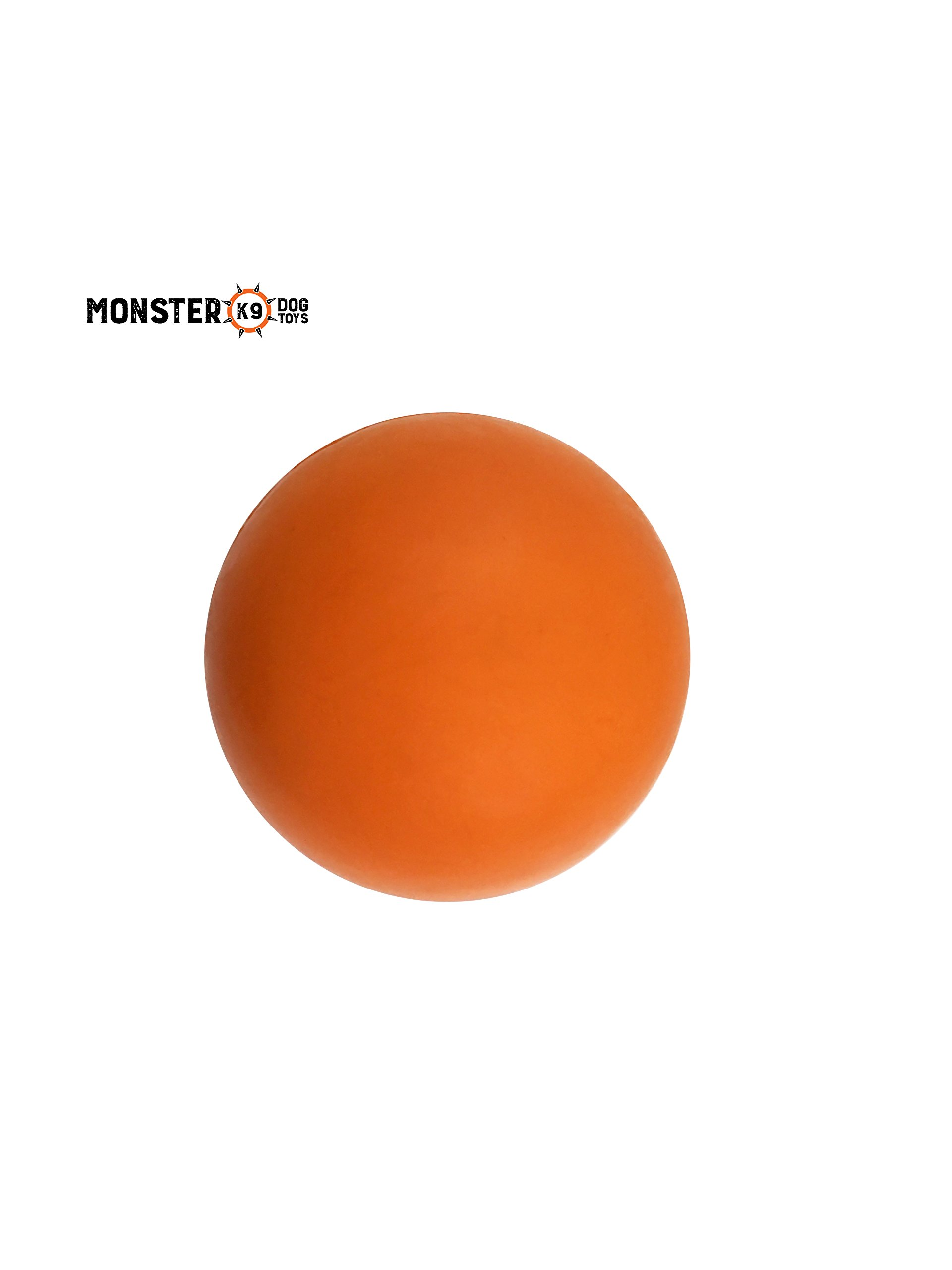 Indestructible Dog Ball'' - Lifetime Replacement Guarantee! - Tough Strong, 100% Non-toxic Chew Toy, Natural Rubber Baseball-sized Bouncy Dog Ball for Aggressive Chewers and Large Dogs