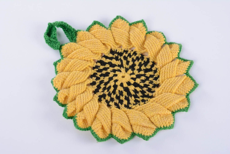 Pot Holder ''Sunflowers'' by MadeHeart | Buy handmade goods