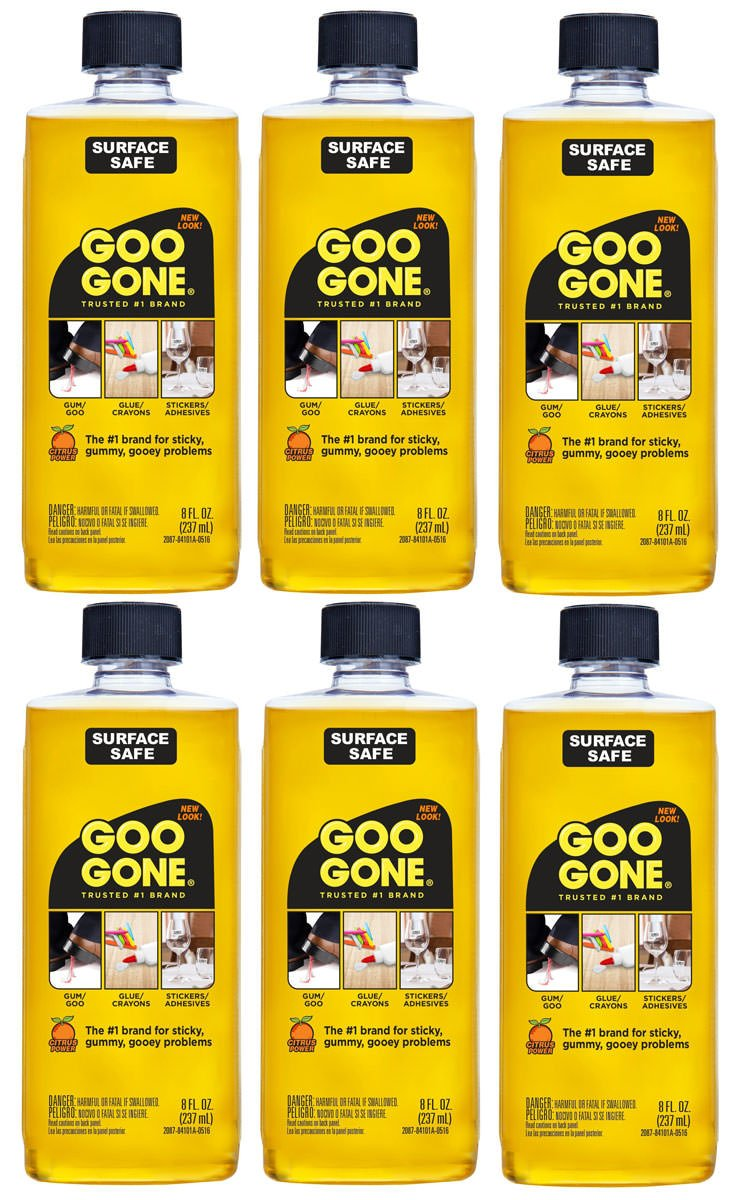 Goo Gone Surface Safe Adhesive Remover, 6 Pack