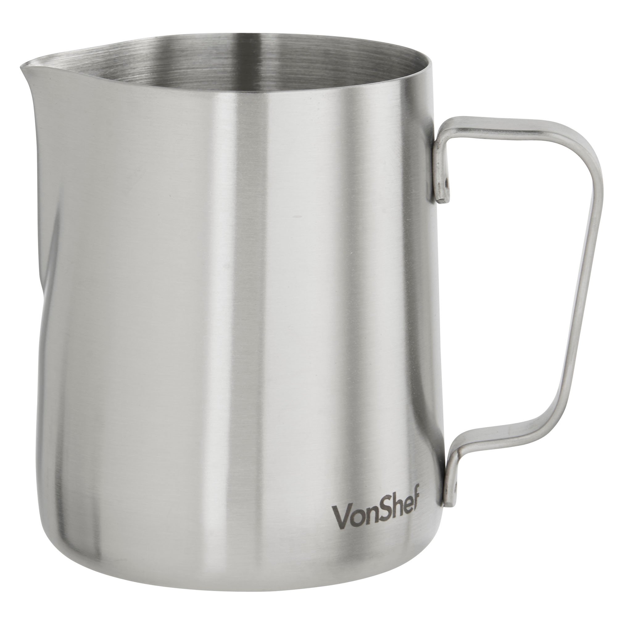 VonShef Stainless Steel Milk Pitcher Suitable for Coffee, Latte & Frothing Milk, Available in 12-Oz, 20-Oz and 32-Oz sizes by VonShef