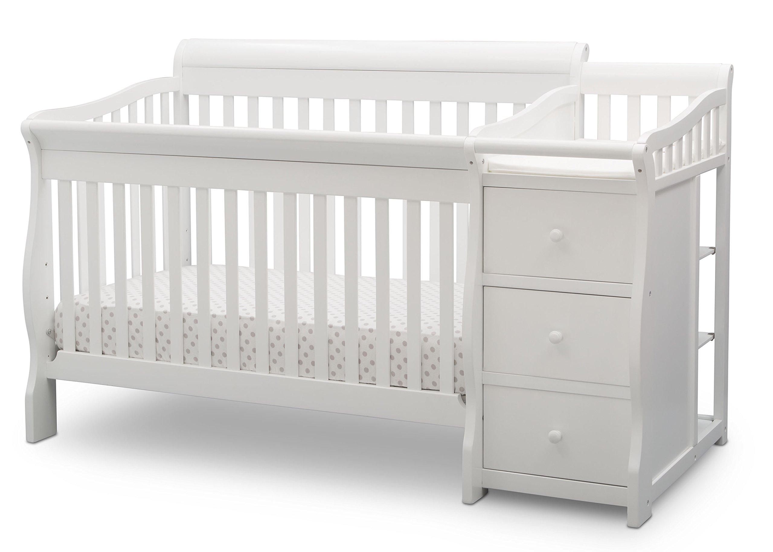 Delta Children Princeton Junction Convertible Crib and Changer, Bianca White by Delta Children