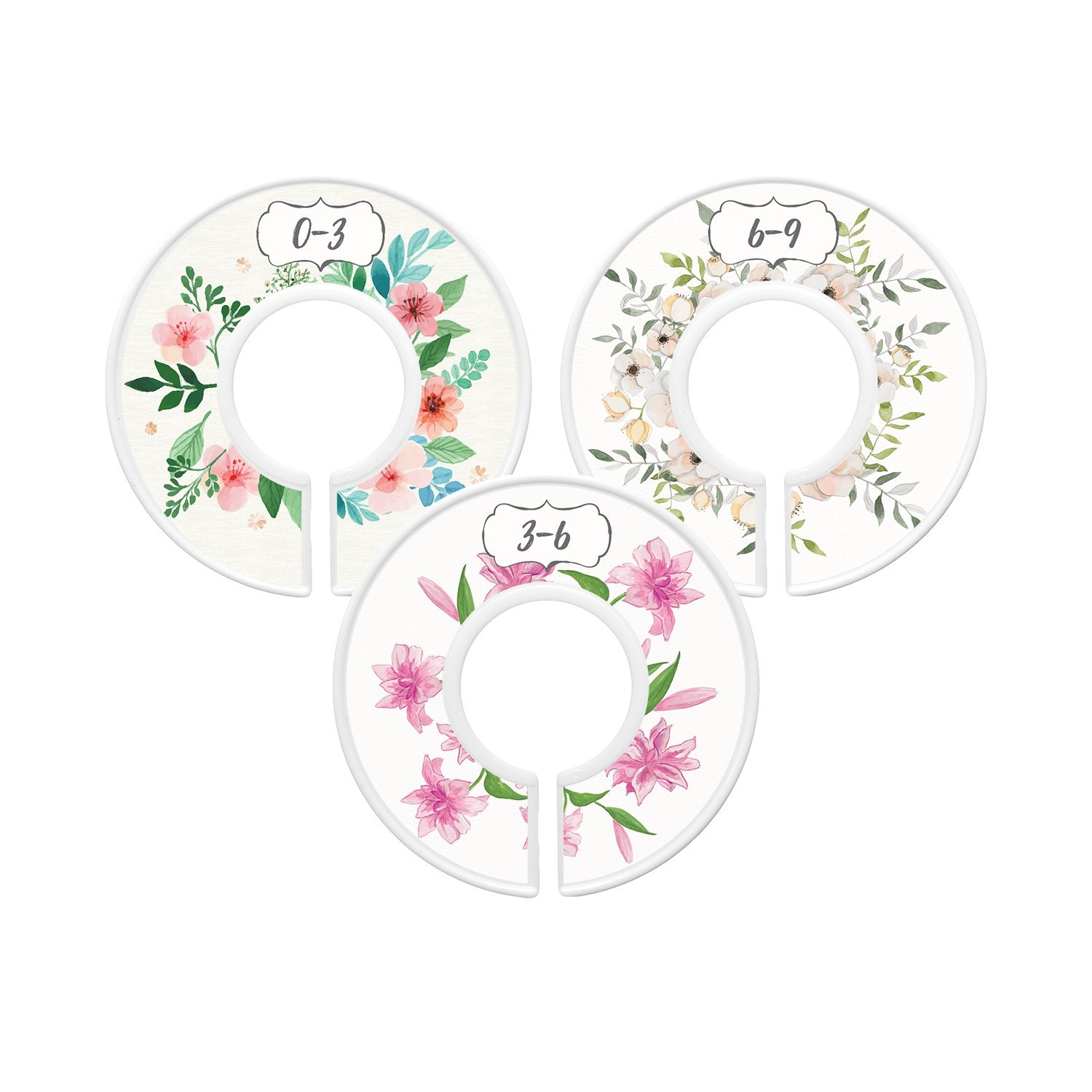 baby closet dividers first bouquet girl set of 6 size organizers