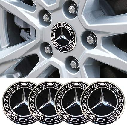4Pcs Car Wheel Center Hub Caps Emblem Sticker 56.5mm fit Mercedes Benz AMG Black