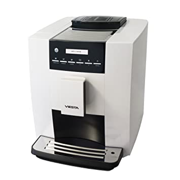Cafetera automática de expreso, máquina de café, espresso, cappuccino, café con leche CB300S weiß: Amazon.es: Hogar